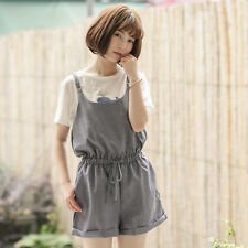 Womens Suspender Trousers Overalls Jumpsuit Playsuit Loose Students Pants Cute