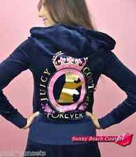 Juicy Couture Velour Tracksuit Scotty Crown Embellished Hoodie Pant Track S XS