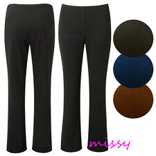 NEW LADIES BLACK WORK TROUSERS TWIN PACK STRETCH RIBBED WORK TROUSERS SIZES 8-26