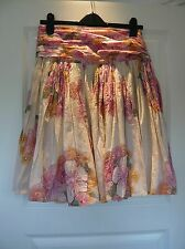 FRENCH CONNECTION Indian Cotton Skirt Flowers & Sequins Size 8