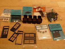 Lot of Ho and O Scale windows and parts