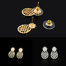 1 Pair Women Cute Fashion Hollow Design Pineapple Shape Earring Ear Stud Jewelry