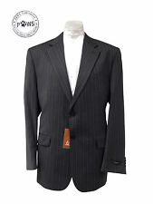 Mens Zenetti Grey Suit Jacket Pinstripe Two Button Pure Wool