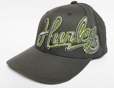 HURLEY BOLTED DOWN Hat FLEXFIT Grey Lime ($28) NEW Cap Surf Skate ONE Classic