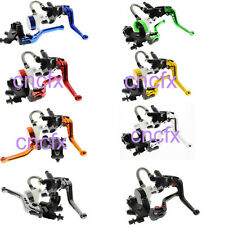 Universal 7/8'' 22mm Front Brake Cable Clutch Master Cylinder Reservoir Levers