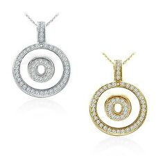 "Alphabet Letter "" O "" Round Disc Initial Pendant With 18"" Chain 14K Yellow Gold"