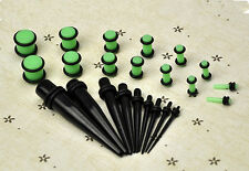 23 Pcs Stretchers Expander Set Ear Taper+ PLUG Kit Gauges 14G-00G 1.6mm-10mm