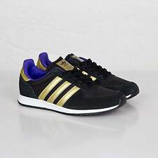 Adidas Originals Adistar Racer Womens Black Gold Retro Classic Trainers Shoes