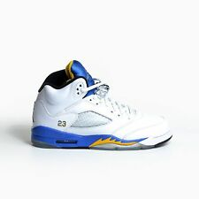 AIR JORDAN 5 RETRO GS LANEY WHITE ROYAL BLUE MAIZE 2013 V YOUTH KIDS 440888-189
