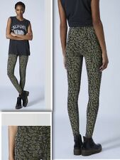 Topshop NEW Leopard Glitter High Waisted Leggings - Size 6 RRP £28 NEW