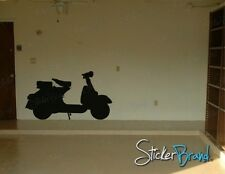 Vinyl Wall Decal Sticker Vespa Moped Scooter