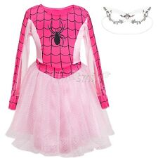 Marvel Spider-Girl Classic Costume Halloween Costume+Mask Cosplay Party Dress