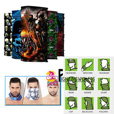 Windproof Bike Magic Scarf Headband Shield  Skull Half Face  Mask Neck Bandana