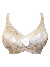Natural/Nude Floral Jacquard Full Cup non wired Bra by thea 38 D RRP £19.50