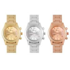 Fashion Mens Women Luxury Stainless Steel Band Quartz Analog Wrist Watch 3 Color