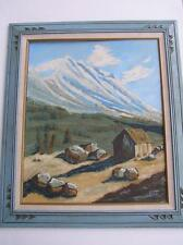 Vintage Original Oil Painting Switzerland Modern Abstract Impressionist BETH 67'