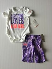 NWT Infant Girl's Under Armour UA Feather Camo 2 Piece Outfit