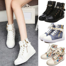 Boots Sneakers Ankle Canvas Fashion Shoes High-Heel Sexy Women Trendy Casual