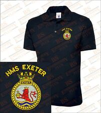 HMS EXETER Embroidered Polo Shirts