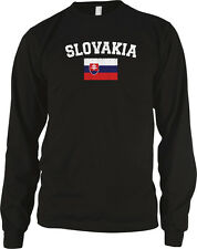 Slovakia Distressed Soccer Flag - Pride Slovak Long Sleeve Thermal