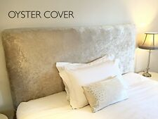 Crushed Velvet Elasticated Headboard Cover