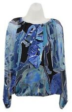 $315 NEW Authentic DVF Diane von Furstenberg PACIFICA CHIFFON Beetle Bug Blouse