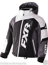 NEW FXR Youth Revo X Snowmobile Jacket ~ Blk/White Weave/Cha ~16~170406-1002-16