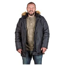 Mens N3B Style Parka Jacket Winter Coat Insulated Cold Weather Dark Navy Blue