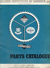 Antique Vintage 1950s Raleigh Indian Sturmey Archer bicycle parts catalogs on CD