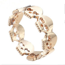 New Style Fashion Unisex Skulls Rings Crystal Boho Rings Skull Chic Ring Jewelry
