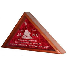Marine Corps Flag Display Case Hand Made By Veterans