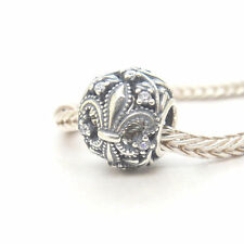 Authentic Genuine S925 Silver Fleur-De-Lis CZ Charm bead