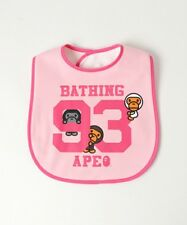 A BATHING APE BABY MILO BIB 3 colors Infant Feeding cotton Bibs New From Japan
