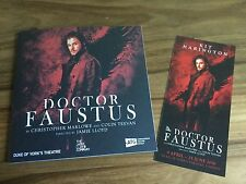 BN Doctor Faustus London Theatre Programme & Flyer Kit Harrington GOT Jon Snow