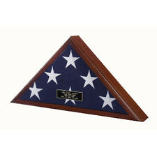 Officers Flag Display Case, burial flag, Coffin Flag Case Hand Made By Veterans
