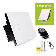 1/2 Gang Wireless Smart Wall Light Touch Screen Switch with Remote Control