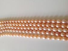"Rice Pink Natural Color Fresh Water Pearls 8-9mm & 10 -11mm16"" strands - AAA"