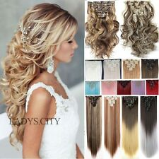New 8PCS/SET Full Head Clip in Hair Extensions Brown Black Blonde Hairpiece T5Q