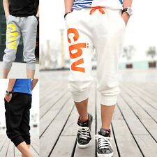 Mens Casual Hip Hop Haren Jogging Gym Teen Sports Pants Shorts Cropped Trousers