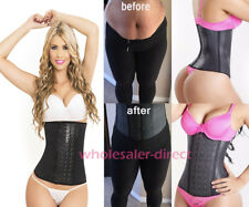 Women's Latex Waist Cincher 3 Hook Body Shaper Workout Band Girdle Corset Faja