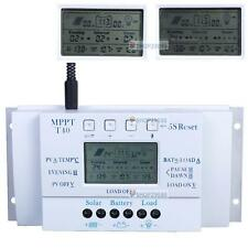 LCD 10/20/30/40A 12V/24V MPPT Solar Panel Regulator Charge Controller 3 Timer QP