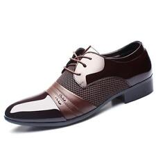 New Men's Dress Formal Oxfords Leather Business Lace up Fashion Casual Shoes