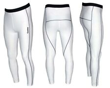 Zimco Men's Long Compression Recovery Base Layer Skin Tights/Pant White 176