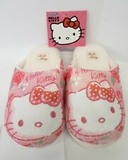 KIDS GIRLS HELLO KITTY INDOOR SHOES CHILDRENS BABY PINK SLIP ON SLIPPERS HK93657