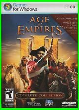 """Age of Empires III 3 """"Complete Collection"""" PC- USA Retail Case**Mint Condition**"""