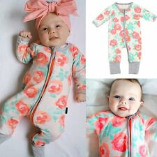 Newborn Infant Baby Boy Girl Outfit Romper Jumpsuit Bodysuit Hooded Clothes 0-3Y