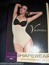 VALENTINA * SEAMLESS BODY BRIEFER  *S/M/L /XL/2XL* BLACK * Must See