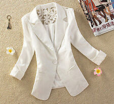 Women Elegant Lace Blazer Lady Single Button Slim Blazer Women Suit Jacket