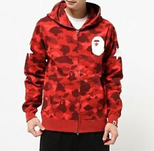 A BATHING APE COLOR CAMO FULL ZIP HOODIE Mens BAPE Original Jacket From Japan