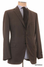 BELVEST Made In Italy Hand Made Dark Gray Super 120's Wool Suit NEW